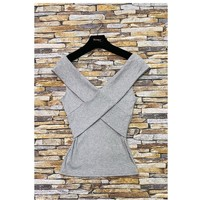 textil Mujer Tops / Blusas Fashion brands HS-2874-GRAY Gris