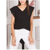 textil Mujer Tops / Blusas Fashion brands F2106-BLACK Negro