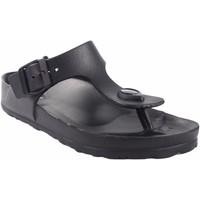 Zapatos Mujer Chanclas Kelara Playa señora  k12018 negro Negro