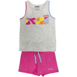 textil Niños Conjuntos chándal Diadora 102175900 Gris