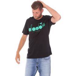 textil Hombre Camisetas manga corta Diadora 502176633 Negro