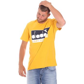 textil Hombre Camisetas manga corta Diadora 502175835 Amarillo