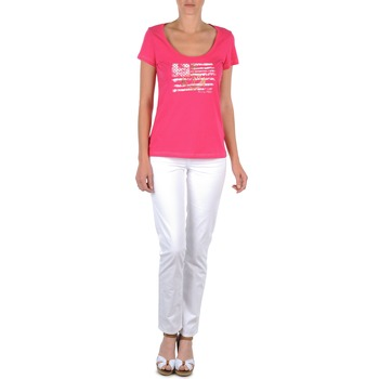 textil Mujer pantalones con 5 bolsillos Tommy Hilfiger LENNY Rosa