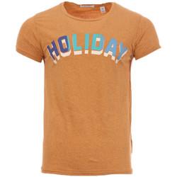 textil Hombre Camisetas manga corta Scotch & Soda  Marrón