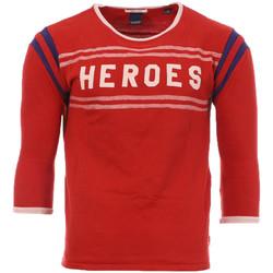 textil Hombre Camisetas manga larga Scotch & Soda  Rojo