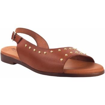 Zapatos Mujer Sandalias Eva Frutos Sandalia señora  9106 cuero Marrón