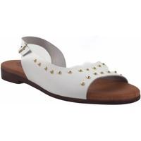 Zapatos Mujer Sandalias Eva Frutos Sandalia señora  9106 blanco Blanco