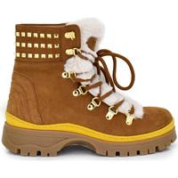 Zapatos Mujer Botines Exé Shoes BOTINES CAMEL CON FORRO EXTERIOR 329K Color Negro