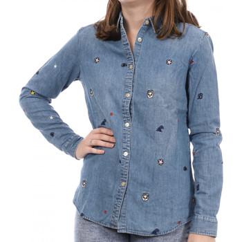 textil Mujer Camisetas manga larga Scotch & Soda  Azul