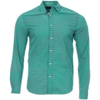 textil Hombre Camisas manga larga Scotch & Soda  Verde