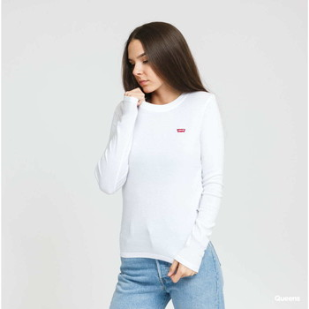 textil Mujer Camisetas manga larga Levi's Strauss CAMISETA LS BABY LEVIS MUJER Blanco
