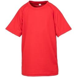 textil Niño Camisetas manga corta Spiro S287J Rojo