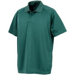 textil Hombre Polos manga corta Spiro S288X Verde Botella