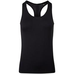 textil Mujer Camisetas sin mangas Tridri TR209 Negro