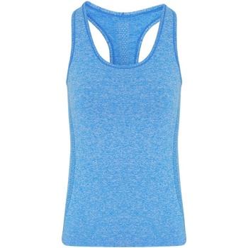 textil Mujer Camisetas sin mangas Tridri TR209 Azul