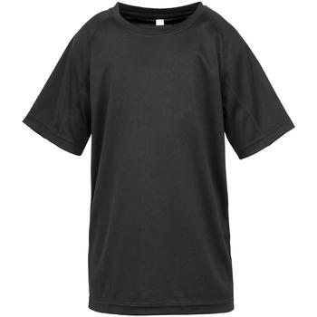textil Niños Camisetas manga corta Spiro SR287B Negro