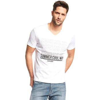 textil Hombre Camisetas manga corta Gaudi 111GU64069 Blanco