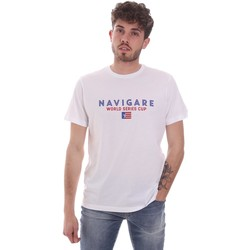 textil Hombre Camisetas manga corta Navigare NV31139 Blanco