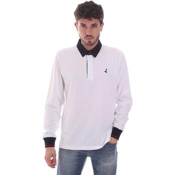 textil Hombre Polos manga larga Navigare NV32024 Blanco