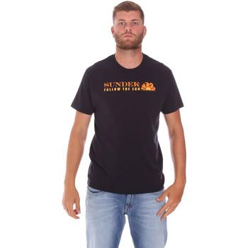 textil Hombre Camisetas manga corta Sundek M049TEJ7800 Negro