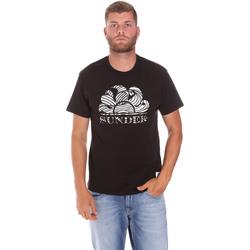textil Hombre Camisetas manga corta Sundek M027TEJ78ZT Negro