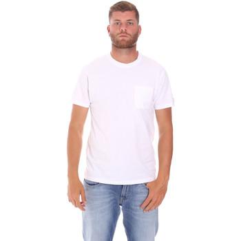 textil Hombre Camisetas manga corta Sundek M050TEJ9300 Blanco