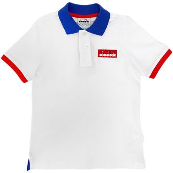 textil Niños Polos manga corta Diadora 102175907 Blanco