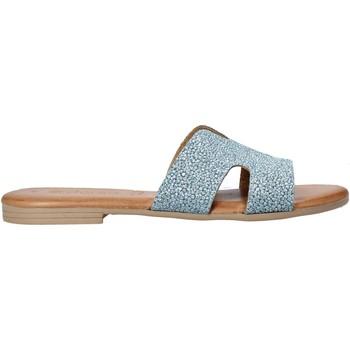 Zapatos Mujer Zuecos (Mules) Dorea MH103 Azul