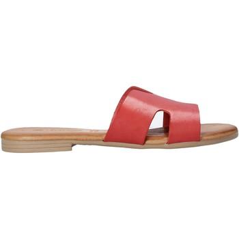 Zapatos Mujer Zuecos (Mules) Dorea MH102 Rojo