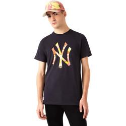 textil Hombre Camisetas manga corta New-Era 12720165 Negro