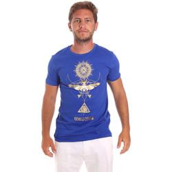 textil Hombre Camisetas manga corta Roberto Cavalli HST65B Azul