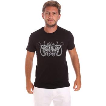 textil Hombre Camisetas manga corta Roberto Cavalli HST66B Negro