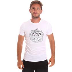 textil Hombre Camisetas manga corta Roberto Cavalli HST64B Blanco