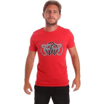 textil Hombre Camisetas manga corta Roberto Cavalli HST66B Rojo