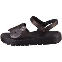 Zapatos Mujer Sandalias Think Sing Negros, Marrón