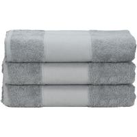 Casa Toalla y manopla de toalla A&r Towels 50 cm x 100 cm Gris