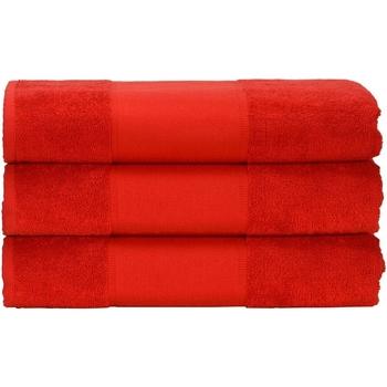 Casa Toalla y manopla de toalla A&r Towels 50 cm x 100 cm Rojo intenso