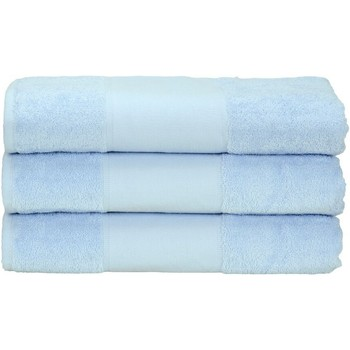 Casa Toalla y manopla de toalla A&r Towels 50 cm x 100 cm Azul claro