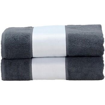 Casa Toalla y manopla de toalla A&r Towels Taille unique Gris antracita