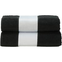 Casa Toalla y manopla de toalla A&r Towels Taille unique Negro