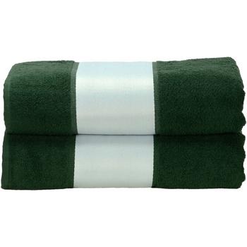 Casa Toalla y manopla de toalla A&r Towels RW6041 Verde oscuro