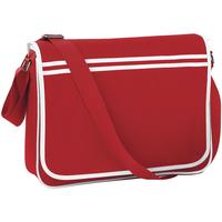 Bolsos Niño Cartable Bagbase BG71 Rojo/blanco