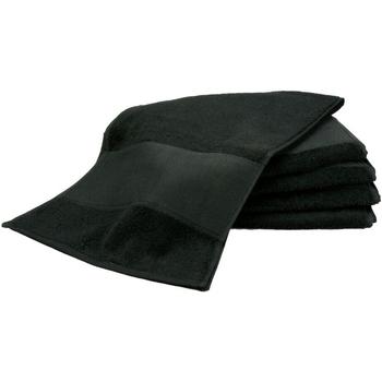 Casa Toalla y manopla de toalla A&r Towels RW6038 Negro