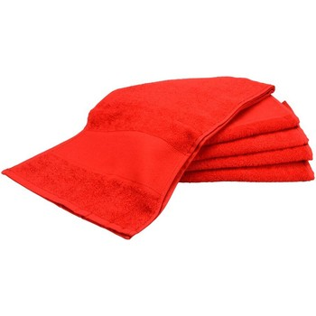 Casa Toalla y manopla de toalla A&r Towels RW6038 Rojo intenso