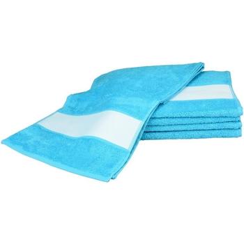 Casa Toalla y manopla de toalla A&r Towels 30 cm x 140 cm RW6042 Azul agua