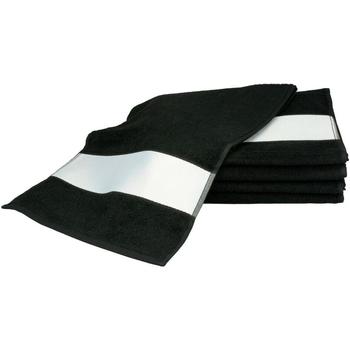 Casa Toalla y manopla de toalla A&r Towels 30 cm x 140 cm Negro