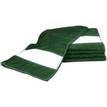 Casa Toalla y manopla de toalla A&r Towels 30 cm x 140 cm Verde oscuro