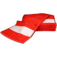 Casa Toalla y manopla de toalla A&r Towels 30 cm x 140 cm Rojo intenso