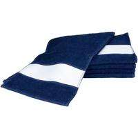 Casa Toalla y manopla de toalla A&r Towels 30 cm x 140 cm Azul marino