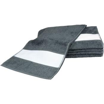 Casa Toalla y manopla de toalla A&r Towels 30 cm x 140 cm Grafito